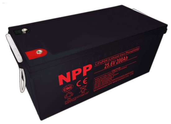 Npp 24V200ah 200ah 24V Lithium Ion LiFePO4 Battery Pack for Solar Power System, UPS, Electric Wheelchair, Scooter