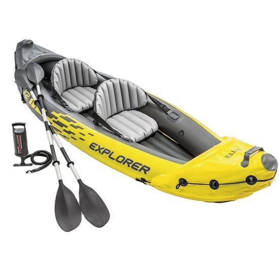 2021 Hot Selling Fishing Family Fun Two Person Crystal Kayak Pedal Kayak