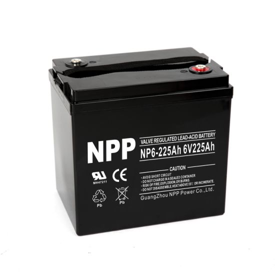 Npp Np6-225ah 225ah 6volt Maintainment-Free AGM Deep Cycle Sealed Lead Acid Battery for Golf Cart, PV Solar, Marine Boat