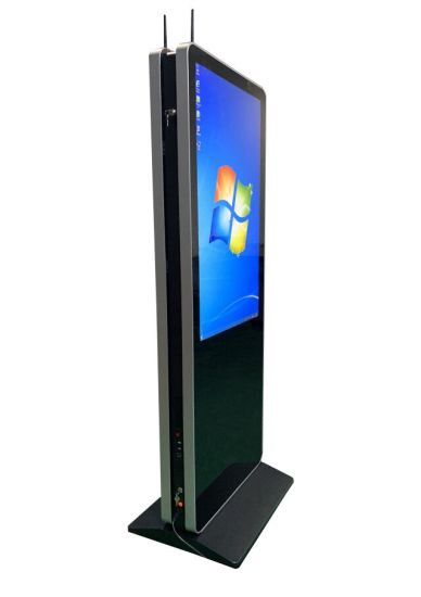 49inch Double Sided Digital Signage Floor Stand LCD Screen Display Signage Floor-Standing Advertisement Machine Network Version