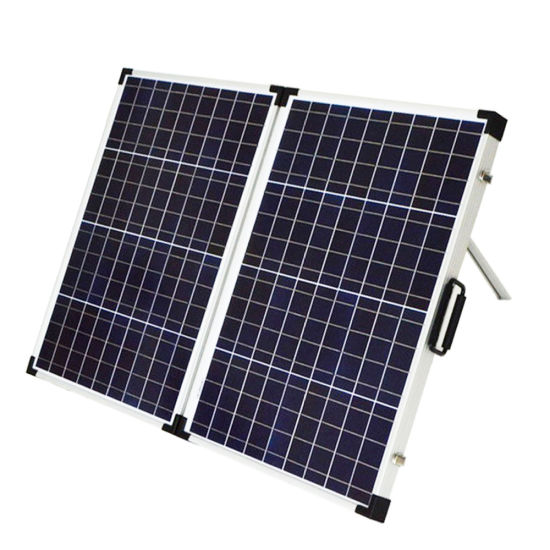 China 120w Folding Solar Panel With Flexible Supporting Legs For Camping China Foldable Solar Panel Folding Solar Bag