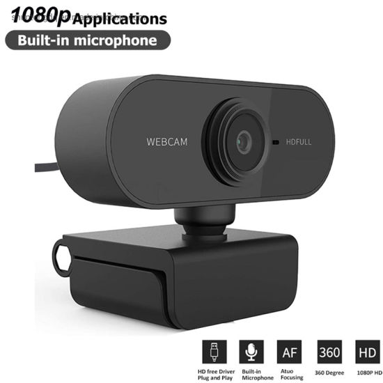 2020 New Full HD Webcam 1080P HD Auto Focus Camera Webcam with Microphone for PC Computer Laptop Tab Conference Webcast Dropship pictures & photos