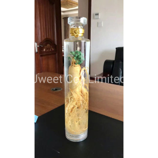 Round Highly White Transparent 700ml Brandy Glass Bottle