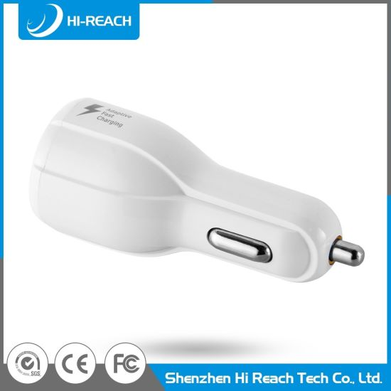 Customized White Mobile Phone Dual USB Universal Car Charger pictures & photos