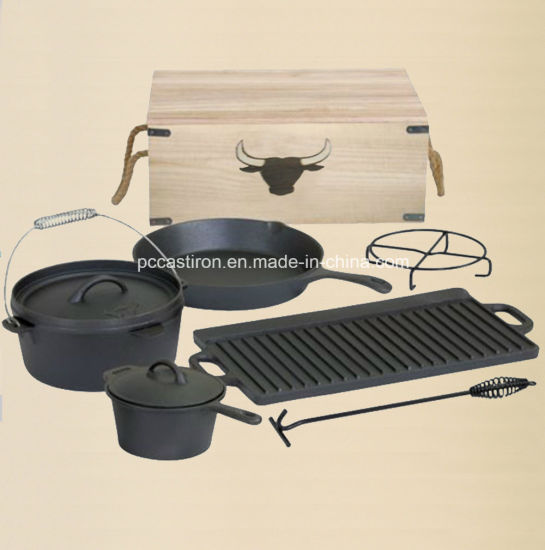 LFGB, FDA, Ce, FDA Qualified Cast Iron Outdoor Camping BBQ Set pictures & photos