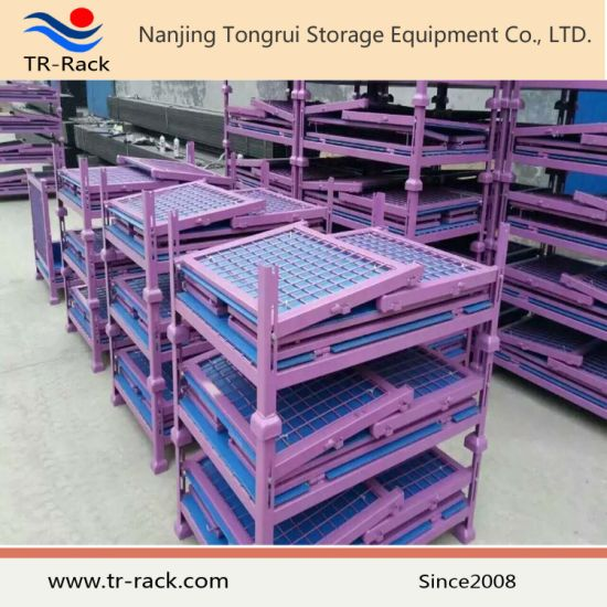 Stackable Steel Wire Mesh Storage Cage for Warehouse storage