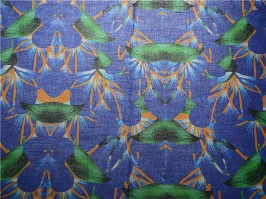 Custom High Quality Printed Ramie Cotton Fabric (DSC-4170)