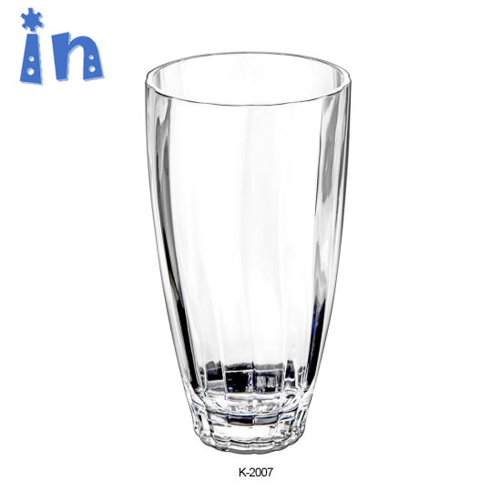 New Design China Sell Directly Acrylic Cup with Threaded Shape pictures & photos