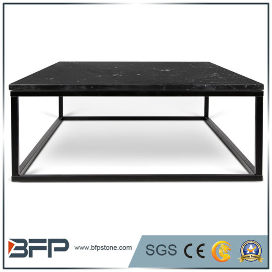 Hot Sale Black Natural Outdoor Marble Top Coffee/Dining Table pictures & photos