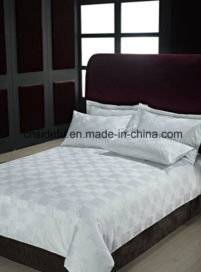 China Wholesale Hotel Linen, Hotel Bed Linen 100% Cotton, Jacquard Bedding Set for Star Hotels