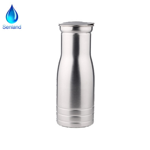 1L Stainless Steel Water Pitcher Carafe Jug for Water, Beverage and Coffee (SL-2208)