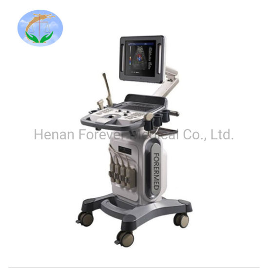 Hospital Equipment Trolley Heart Check Color Doppler Ultrasound System pictures & photos