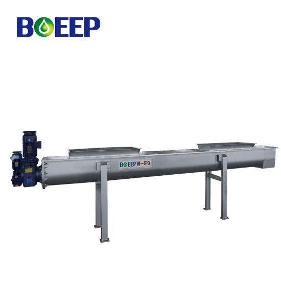 U Trough Incline Stainless Steel Shaftless Screw Conveyor for Sludge