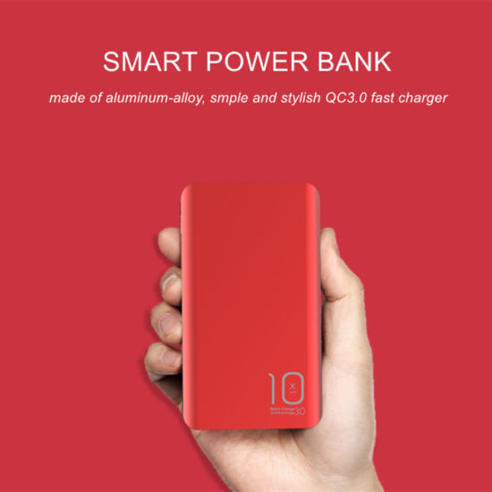 Aluminum-Alloy Powerbank QC3.0 Fast Charging Mobile Phones 10000mAh OEM Manufacturer pictures & photos