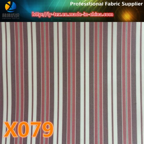Goods in Stock, Yarn Dyed Stripe Fabric for Garment (X077-79)