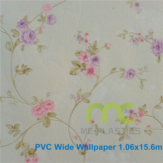 Factroy Price of Deep Embossed PVC Wallpaper/ Width 1.06m pictures & photos