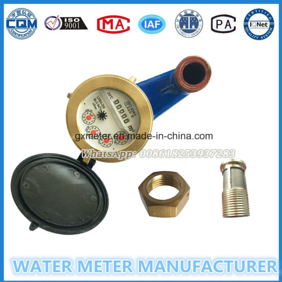 Multi Jet General Iron Body Water Meter with Grass Mechanism Parts