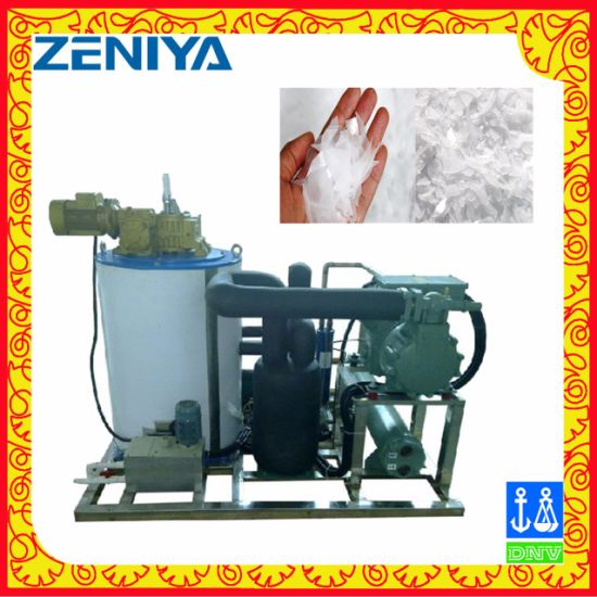 Low-Energy Seawater Flake Ice Machine for Seafood Processing/Fishery
