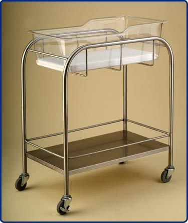 Stainless Steel Hospital Bassinet with Shelf (THR-B001) pictures & photos