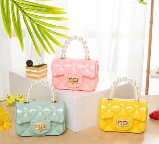 in Stock Fashion Mini Women Bag Small, Women Handbags with Pearls Handle