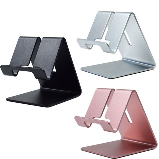 Low Price Aluminum Alloy Lazy Mobile Phone Holder Cell Phone Stand for Desk