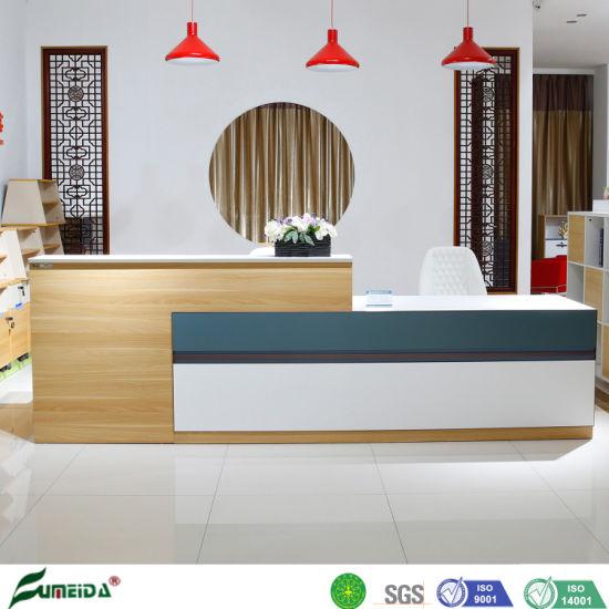 Modern Commercial Design Furniture Melamine Office Executive Reception Desk