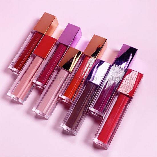 Dropshipping Amazon Cosmetics Makeup Low MOQ Elegant Moisturising Creamy Mate Water Proof Red Nude Mat Matte Lipstick Liquid