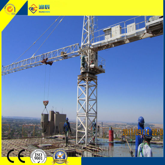 Construction Using Qtz100 8t Inner Climbing Tower Cranes with Ce
