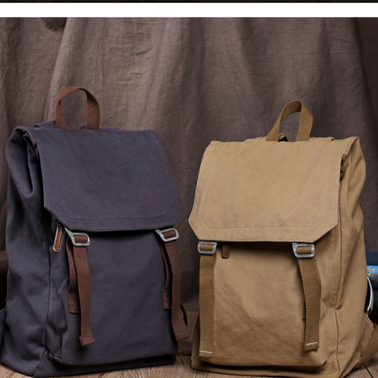 Wholesale Fashion Popular Leisure Canvas Day Backpack Schoolbag Day Bag