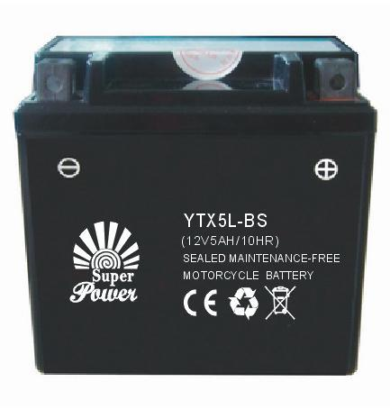 VRLA Motorcycle Battery 12V 5ah with CE UL Certificate Called 12V5A-1