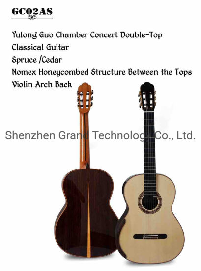 Custom Yulong Guo Chamber Concert Solid Double Top Spruce Cedar Style Classic Guitar