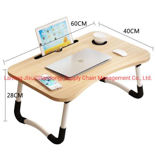 Portable Mdf Folding Wood Laptop Bed, Portable Folding Desk Pc Laptop Bed Table