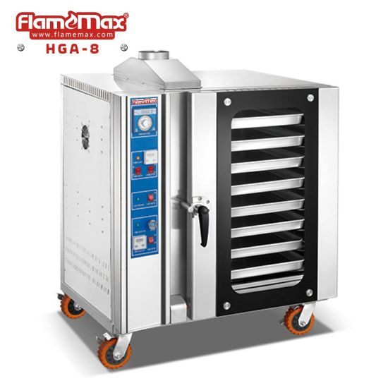 8 Trays Commercial Gas Bread Pizza Baking Convection Oven with Steam Spray (HGA-8)