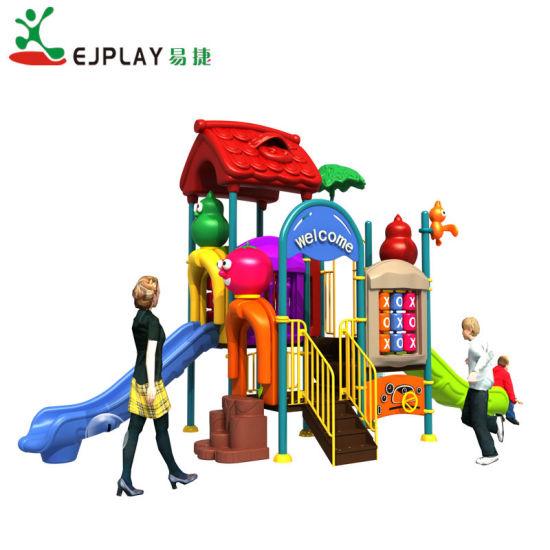 New Popular Plastic Slide Small Playground, Children Plastic Outdoor Playground Equipment for Amusement Park
