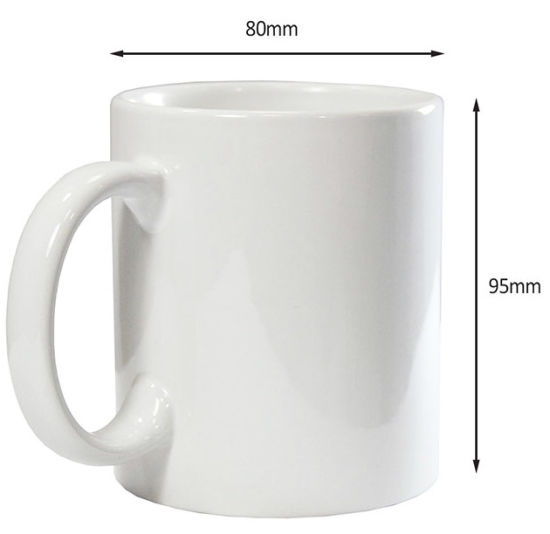 11oz Standard Ceramic/Porcelain Coffee Mugs for Sublimation with Logo Custom pictures & photos