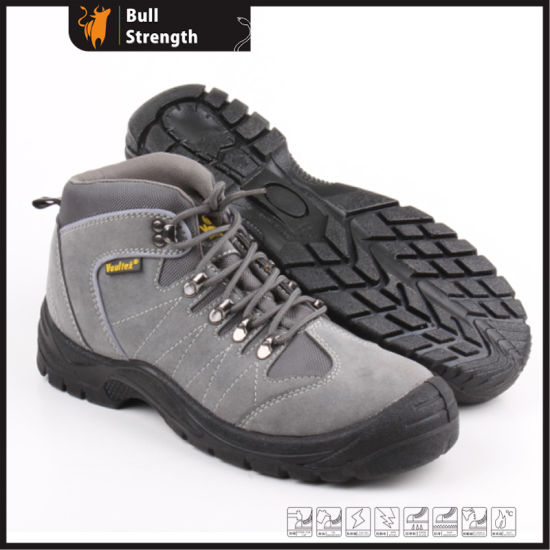 8acdc27a9b8 Sanneng Shoes Geniune Leather Safety Boots with Steel Toe Cap and Steel  Midsole (SN5238)