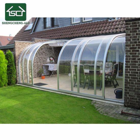 DIY Installation Lowes Retractable Aluminum Profile Polycarbonate Patio  Sunroom