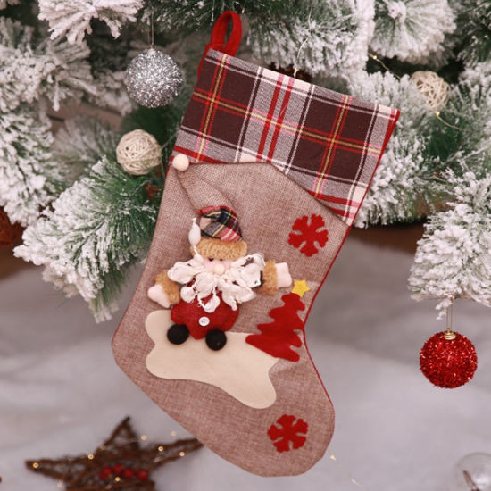 f7ccc0a5c Christmas Stockings Cute Toys Stockings Candy Socks Gifts Bag Christmas  Tree Hanging Xmas Decoration