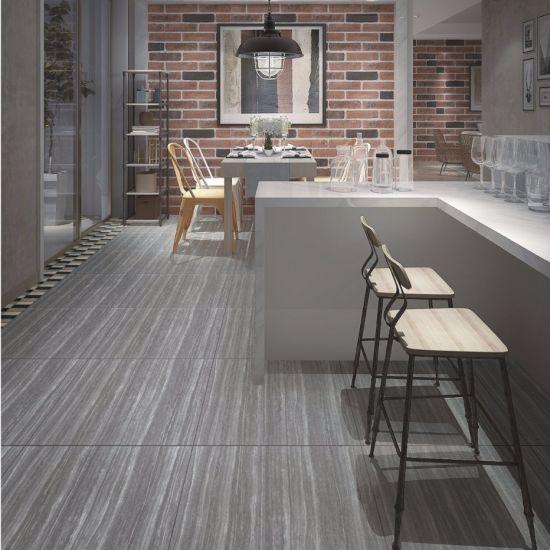 China Line Stone Inkjet Matt Rustic Glazed Ceramic Floor Tile