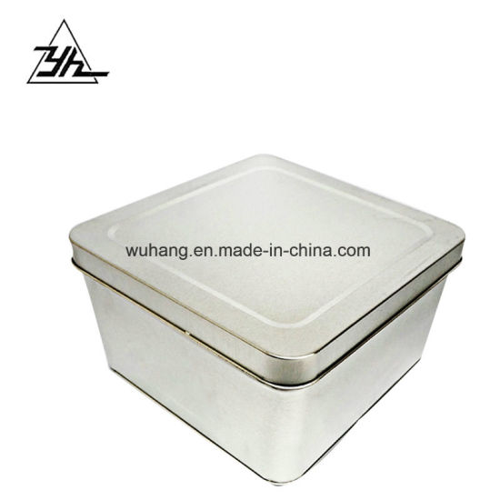Food Grade Customized Metal Candy Can Square Mint Tin Box