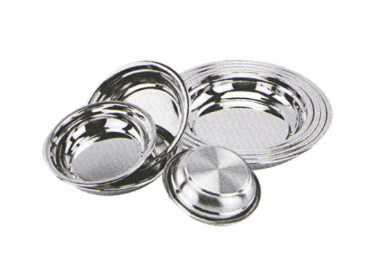 Stainless Steel Kitchenware Oval Tray in Round Design Sp006