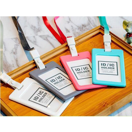 Vertical Silicon ID Card Badge Holder