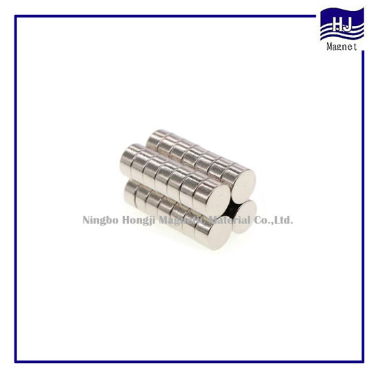 Popular Wafer Cylinder Strong Power Neodymium Magnet NdFeB Magnetic Material