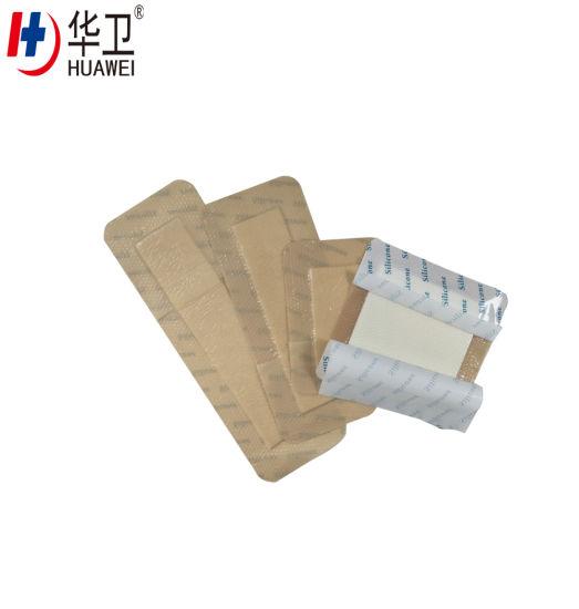 Premium Sterile Adhesive Medical Silicone Foam Dressing for Foot Ulcer, Sacrum, Sacral Foam Dressing, Remove Scar, Burn Wound Dressing
