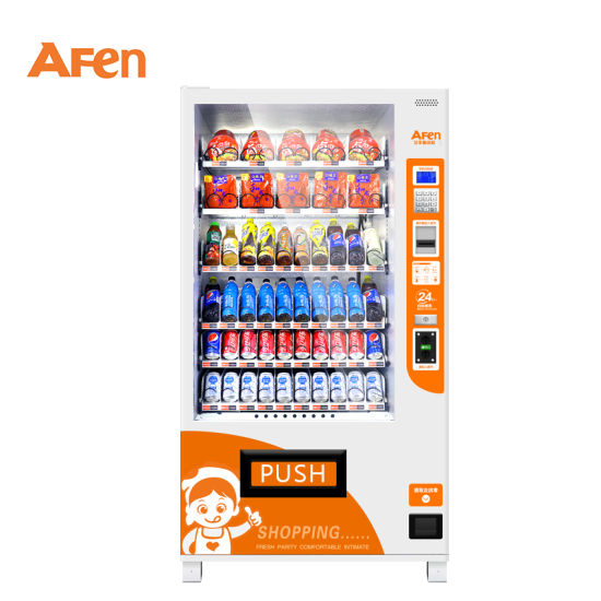 Afen Automated Bottled Water Beer Beverage Combo Cold Drink Snack Food Vending Machine pictures & photos