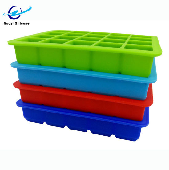 20 Cavity Large Silicone Ice Cube Tray Square