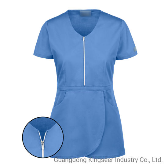 Custom Wholesale Uniform Cotton Ployester Surgery Doctor Nurse Health Care Safety Scrubs Uniforms for Hospital Ksu007