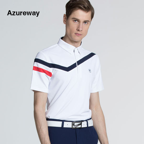 Golf Fashion Polo Shirt Quick Dry Polyester Men Poloshirts pictures & photos