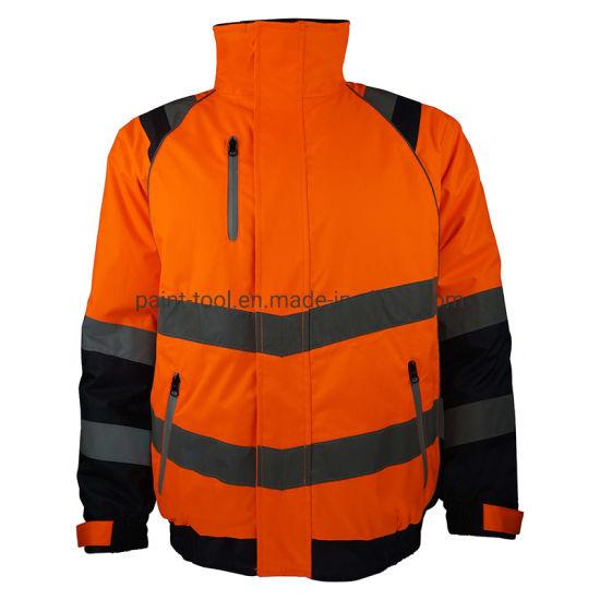 Hi-Vis Reflective Waterproof Antifouling Breathable Work Jacket Safety Uniform