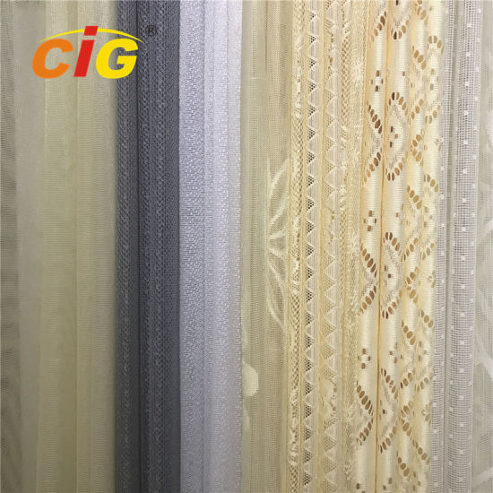 50-200GSM Weight 100 Polyester Lace Table Cloth Upholstery Fabric Lace Curtain Fabric